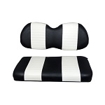Club Car Precedent Golf Cart 2004-Up | Custom Front Seat Cushions | Black/White
