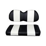 Club Car Precedent Golf Cart 2004-Up | Custom Front Seat Cushions | Black/White