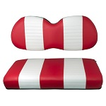 Club Car Precedent Golf Cart 2004-Up   Custom Front Seat Cushions   Red/White