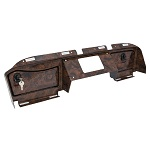 EZGO RXV Golf Cart 2016-Up Woodgrain Dash Cover w/ Locking Glove Boxes
