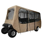 """Deluxe Golf Cart Enclosure Cover 6 Six Person for Roofs up to 124"""" Long 
