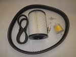 EZGO 2-Cycle Gas Golf Cart 1980-1987 | Tune Up Kit With Drive & Starter Belts