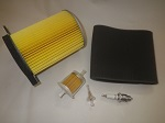 Yamaha G1 Gas Golf Cart 1978-1989 Tune Up Kit Air Fuel Filter Spark Plug