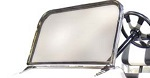Jakes Stainless Steel Sport Windshield for Club Car DS Golf Cart 1982-UP