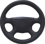 EZGO Golf Cart Premium 4 Spoke Black Cushioned Steering Wheel