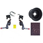"EZGO RXV Gas Golf Cart 2008-2013 6"" Lift Kit w/ 22"" Sahara Tire / Wheel Pkg"