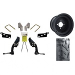 "EZGO RXV Electric Golf Cart 2008-2013 6"" Lift Kit w/ 22"" Sahara Tire / Wheel Pkg"