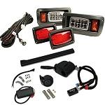 Club Car DS Golf Cart 1993-Up | GTW Premium LED Light Kit w/ Signals Horn