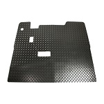 EZGO TXT Golf Cart 2001.5-2013 Floor Shield Rubber Black Diamond Plate w/Horn