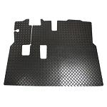 EZGO RXV Golf Cart 2008-Up Diamond Plate Design Floor Mat Shield w/ Horn
