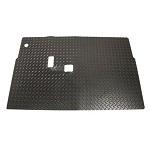 Diamond Plated Rubber Floor Mat w/ Horn Hole | EZGO TXT T48 2014-Up Golf Cart