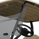 "Yamaha G29 Drive Golf Cart 2007-2016 Folding 1/4"" Front Winged Windshield 