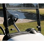 """EZGO RXV Golf Cart 2008-Up Folding 1/4"""" Front Windshield w/ Gasket 