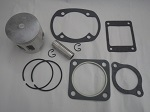 Yamaha G1 2-Cycle Gas Golf Cart Top End Piston Kit w/ Gaskets | Standard Bore