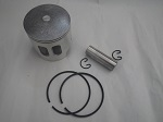 Yamaha G1 2-Cycle Gas Golf Cart Piston, Rings, Wrist Pin, Clips Kit | .50mm OS
