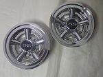 "Golf Cart EZGO Yamaha Club Car 8"" SS Chrome Wheel Cover Hub Caps 