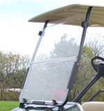 Club Car DS 2000.5-UP Golf Cart Clear Impact Resistant Folding Front Windshield