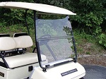 Yamaha G14 G16 G19 Golf 1995-2003 Cart Clear Folding Front Windshield
