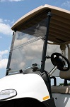 EZGO RXV Golf Cart Tinted Acrylic Folding Front Windshield w/ Rubber Clips
