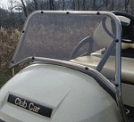 Jakes Stainless Steel Sport Windshield for Club Car Precedent Golf Cart 2004-UP