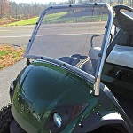 Jakes Stainless Steel Sport Windshield for Yamaha Drive G29 Golf Cart 2007-2016