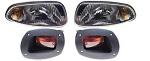 EZGO RXV Golf Cart 2008-2015 Premium Complete Head Light & Tail Light Kit