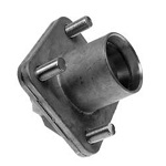 EZGO TXT Golf Cart 2001 1/2-Up Front Wheel Hub with Bearing Races | 70895-G01