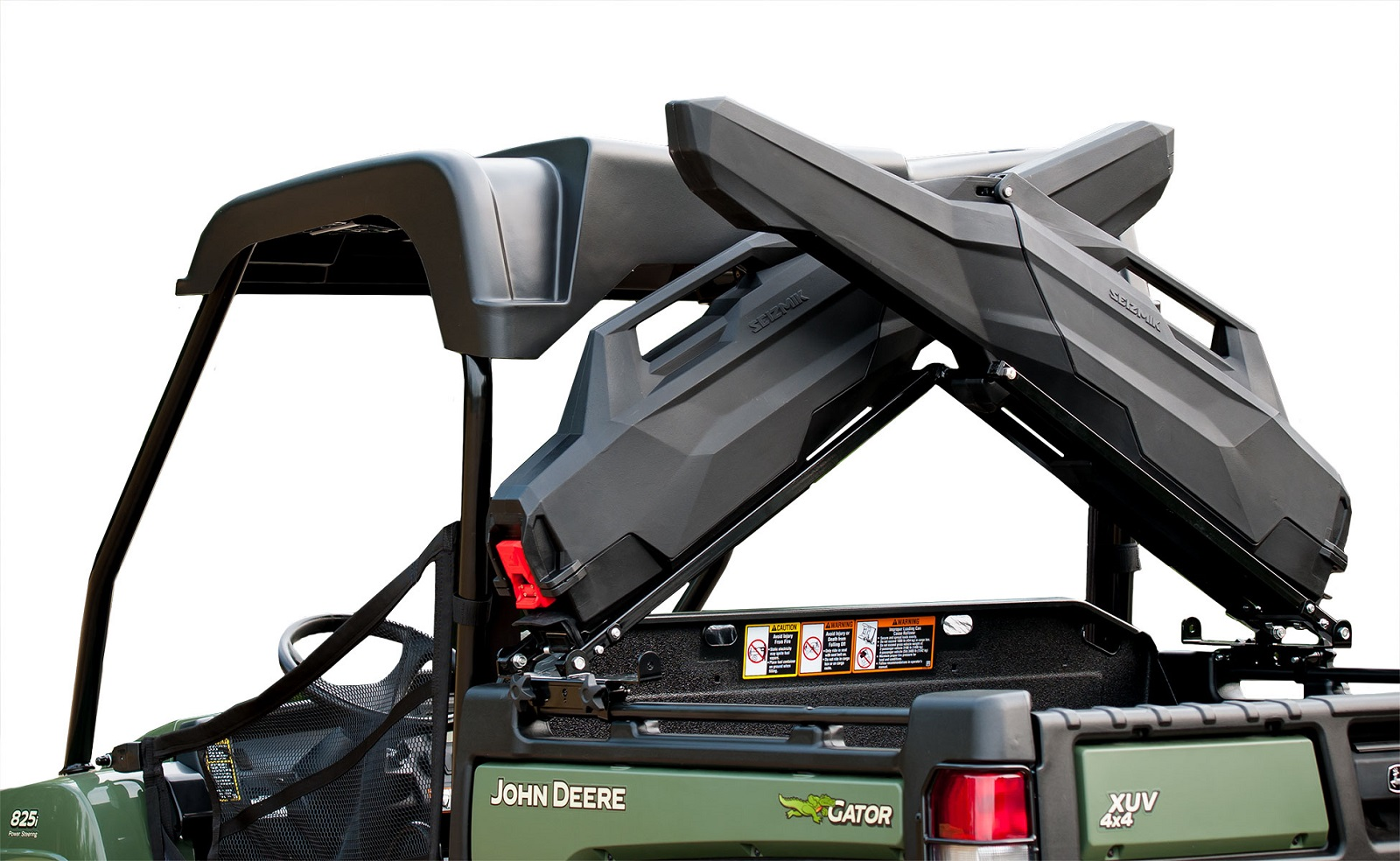 "Seizmik Armory X Rack for 44-48"" UTV Bed Holds Armory SST Gun Cases 