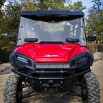 Honda Pioneer 1000 2016-2019 Seizmik Hard Poly Full Vented Windshield | 25032