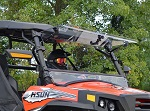 SuperATV Hisun Strike 2017-Up | Scratch Resistant Flip Up Windshield