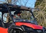 SuperATV Honda Pioneer 1000 2016-Up   Scratch Resistant Flip Up Windshield