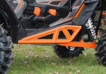 SuperATV Polaris RZR 900 / 1000 / Turbo Heavy Duty Rock Sliders | Orange